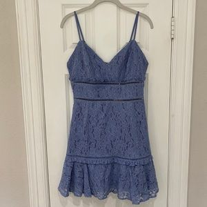 NWT Keepsake Periwinkle Mini Lace Cocktail Dress